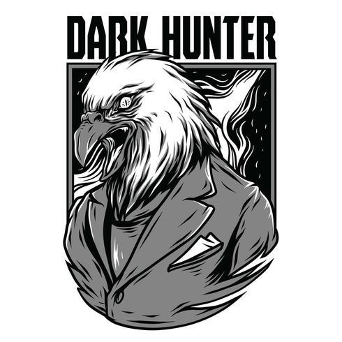 aigle vector illustration design tshirt noir et blanc