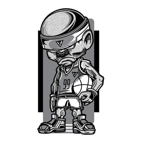 swag boy black and white basketball tshirt design , Download