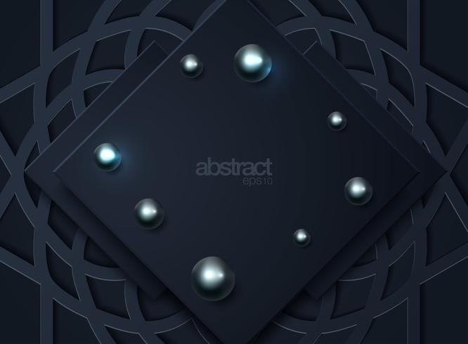 Fundo abstrato escuro com camadas sobrepostas pretas vetor