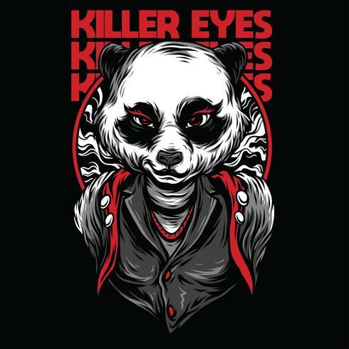 design de camiseta de ilustração vetorial de panda feminino vetor