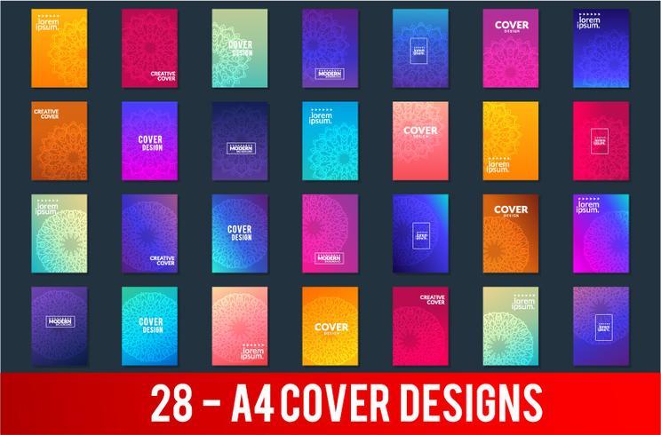 Set of gradient backgrounds with trendy design vector