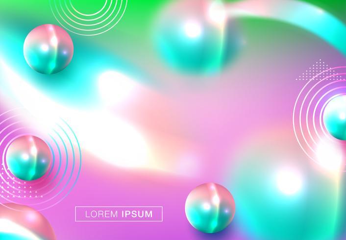 Abstrakter Hintergrund mit dynamischen Kugeln 3d