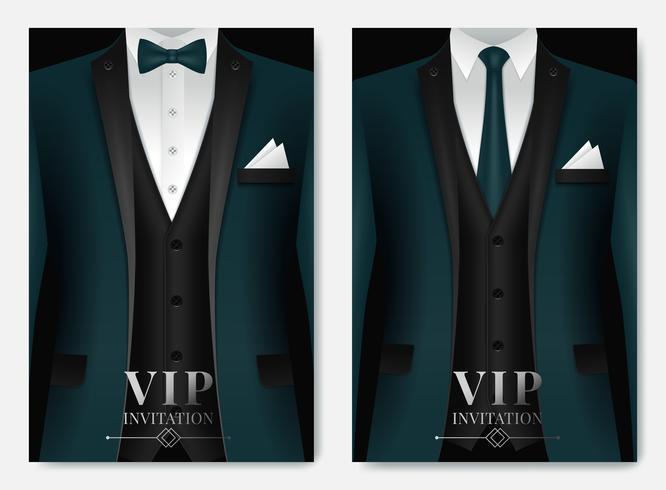 Conjunto de plantillas de tarjetas de presentación Green Suit