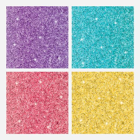 Uppsättning färgade glänsande glitterbakgrunder