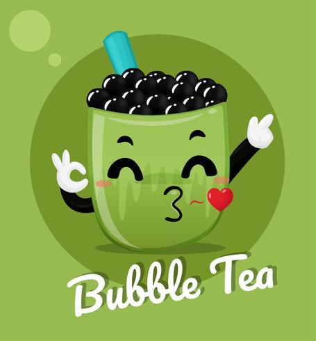Bubble Milk Green Tea Download Free Vectors Clipart Graphics Vector Art
