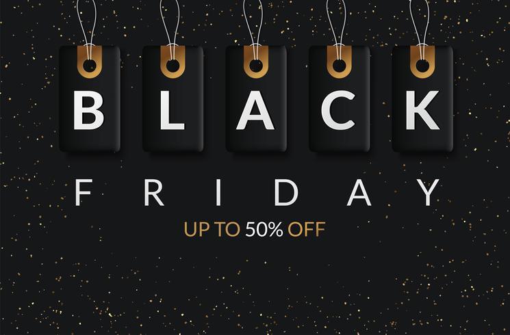 Black Friday uitverkoop black tag