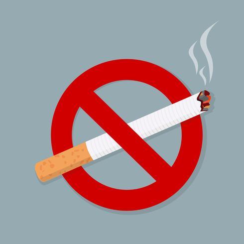 Cartello No Smoking vettore