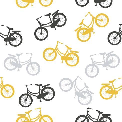 patrón de bicicletas de vector