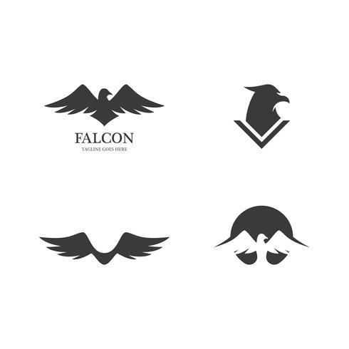 Plantilla Falcon Eagle Bird vector