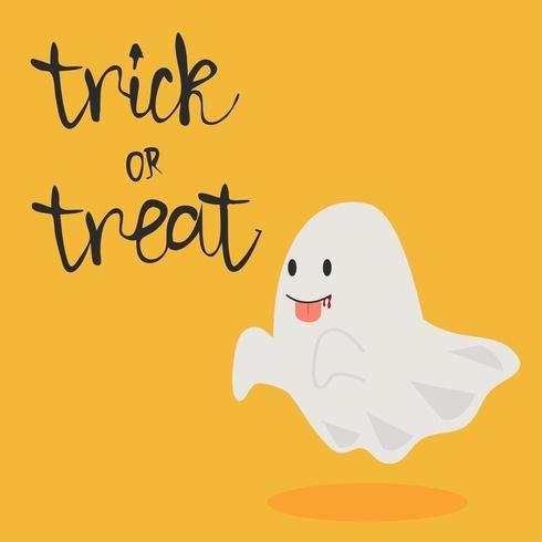 vetor de fantasma de halloween com língua