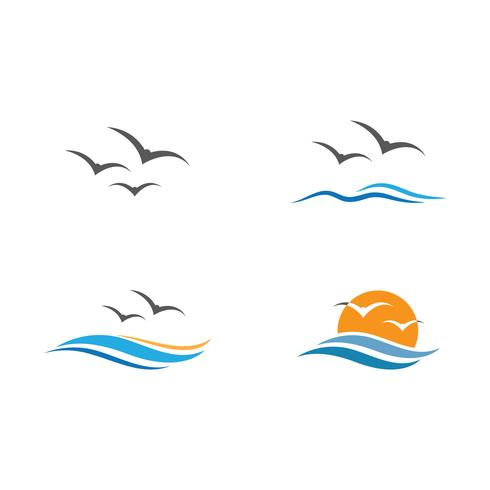 seagull  symbol and icon vector