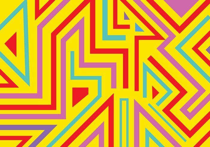 Des formes géométriques abstraites graffiti et des lignes de fond