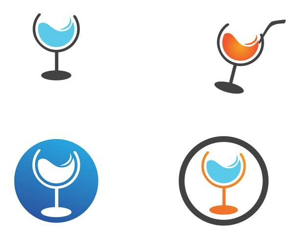 juice logo and symbols set vector