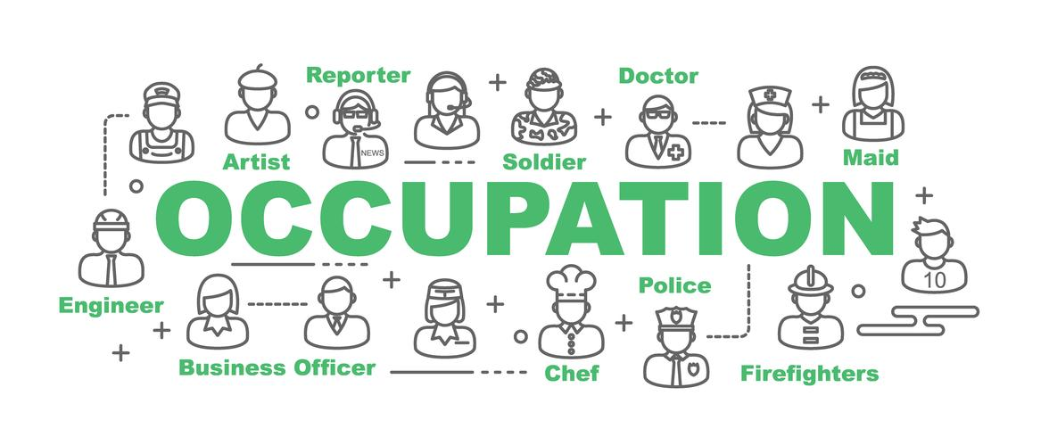 occupation banner with line icons
