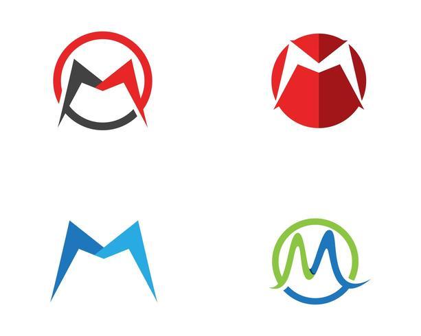 M Letter Logo Business Template Vector