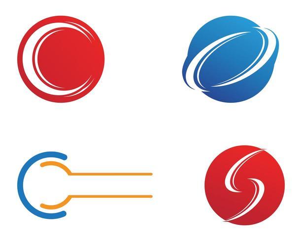 Insieme di vettore del modello di logo della lettera C.
