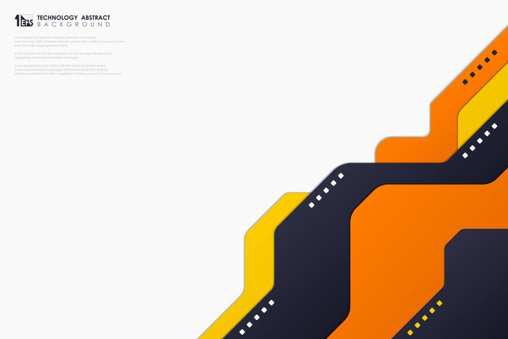 Diseño de tecnología de colores abstractos sobre fondo blanco. vector