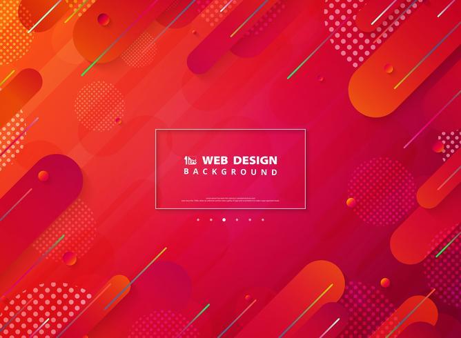 Página de inicio tecnológica de líneas de rayas de colores vivos vector