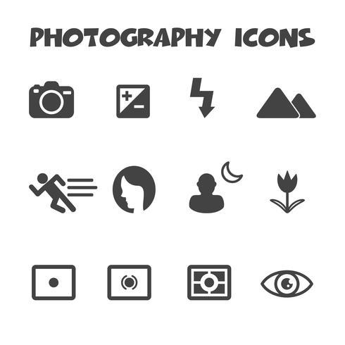 photography icons symbol