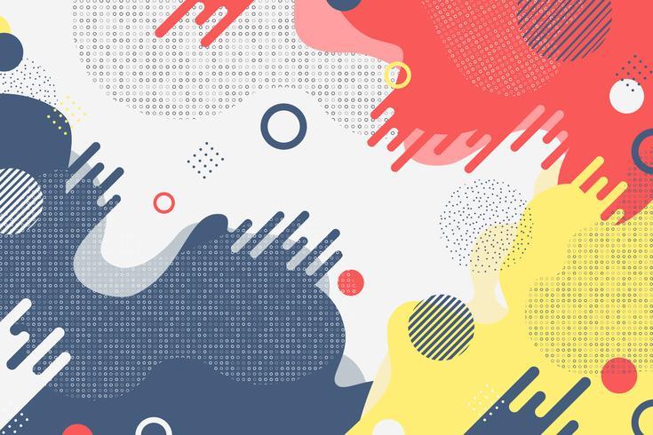 Décoration abstraite de couleurs et de formes minimales vecteur