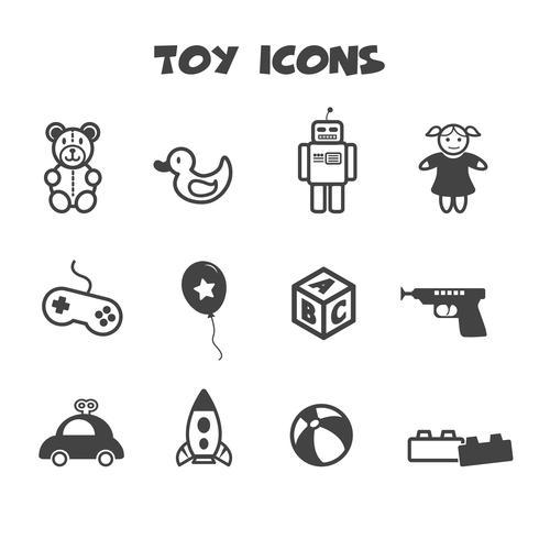 simbolo di icone giocattolo vettore