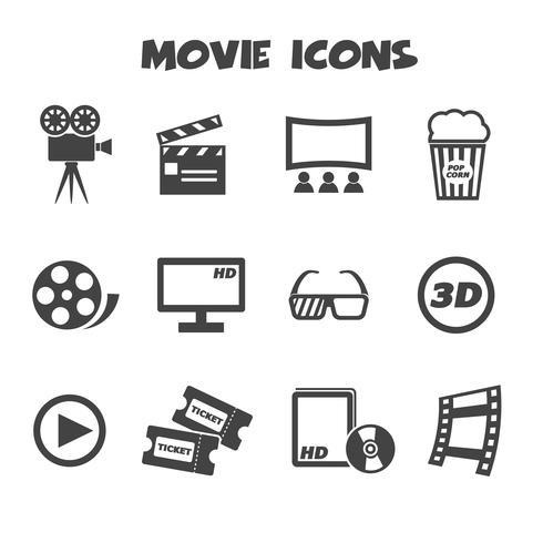 símbolo de ícones do filme vetor