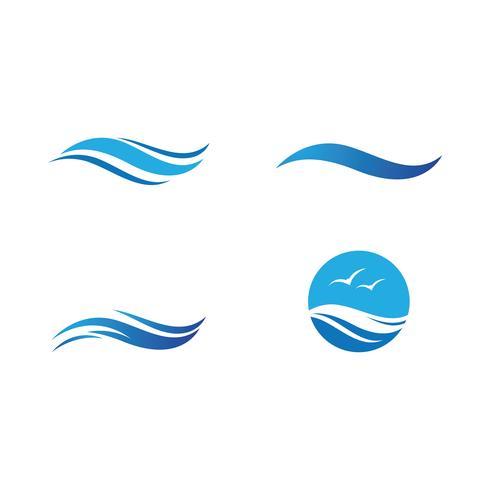 Water Wave symbol och ikonuppsättning