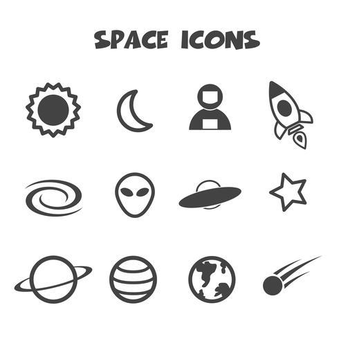 símbolo de icono de espacio vector