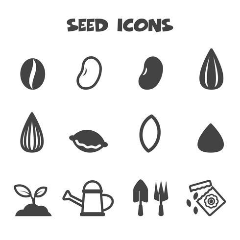 zaad pictogrammen symbool