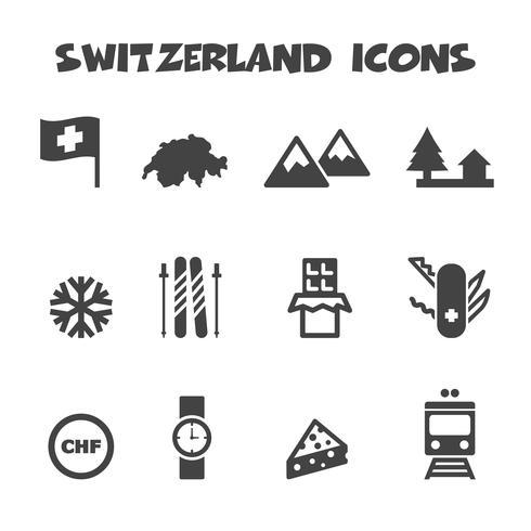 símbolo de los iconos de suiza vector