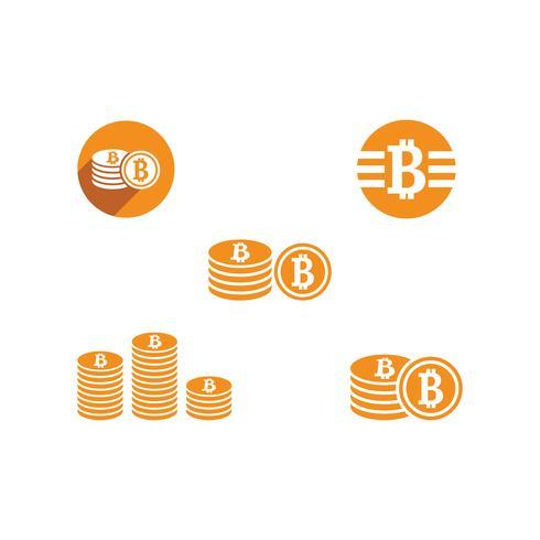 Bitcoin illustratie set