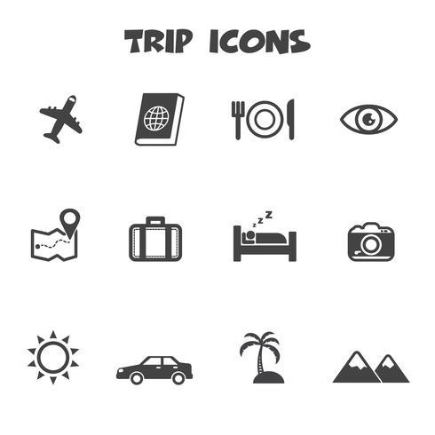 símbolo de ícones de viagem vetor