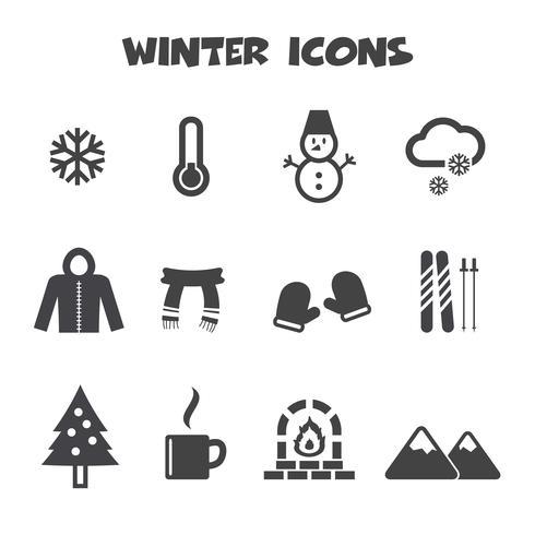 simbolo delle icone di inverno
