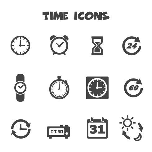 símbolo de los iconos de tiempo vector