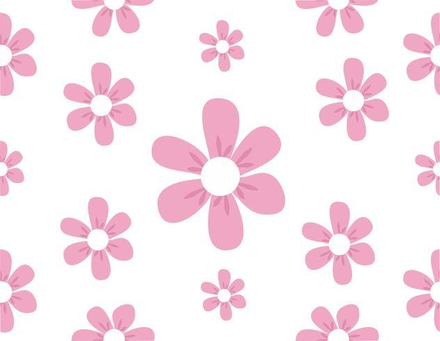 cute flowers pattern vector