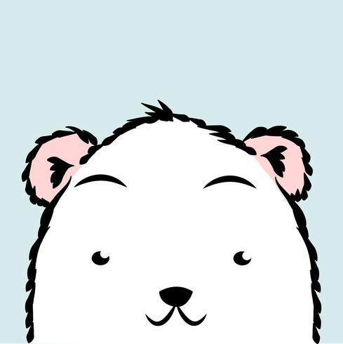 Lindo oso polar vector