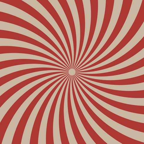 Circus graphic red  radial lines on light brown background