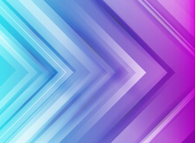 Abstract blue and purple arrows gradient background vector