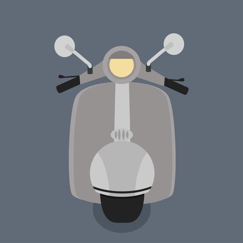 moto vue de face vecteur