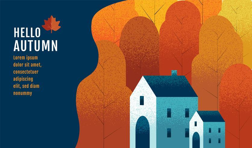 Hello Autumn Banner Design