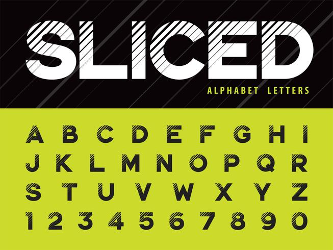 Glitch Modern Alphabet Lettere e numeri