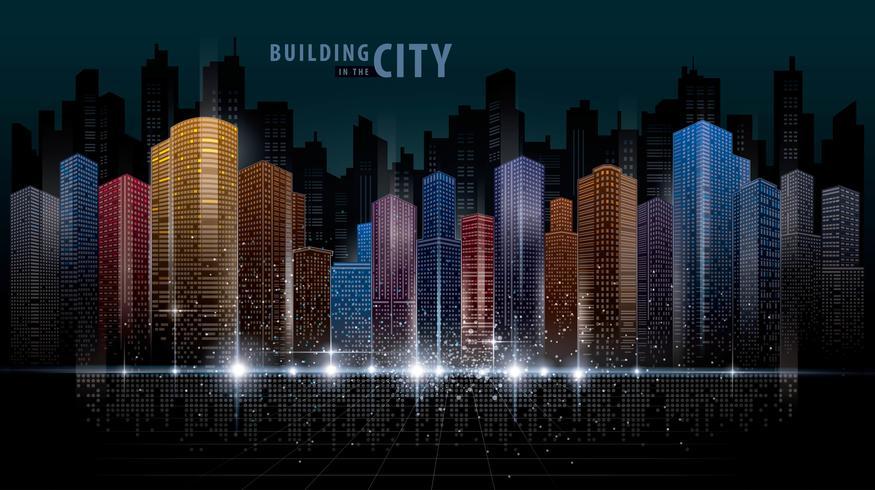 Bunte abstrakte futuristische Skyline