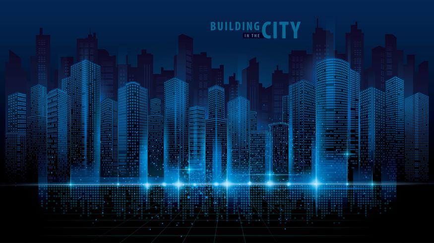 Abstrakte futuristische Stadtlandschaft