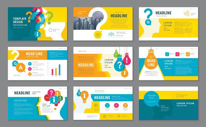 Plantillas de presentación, elementos de infografía Conjunto de diseño de plantillas vector