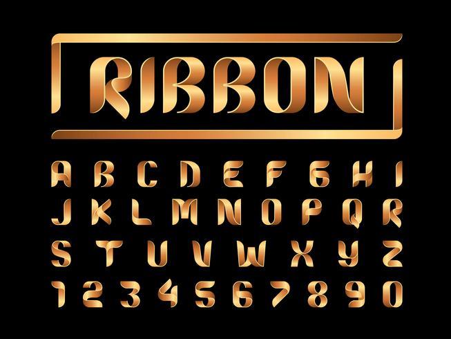 Nastri Alfabeto Lettere e numeri vettore