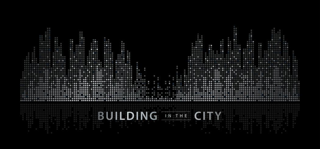 Abstract stadslandschap