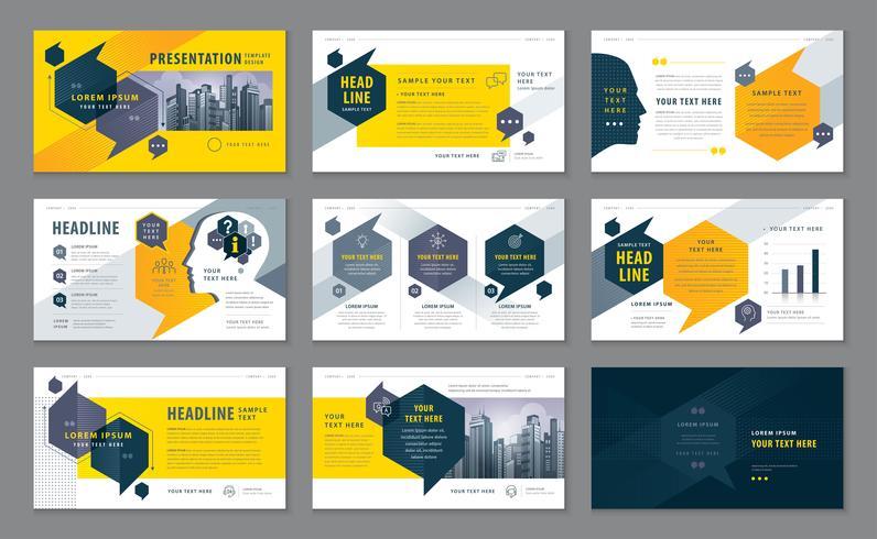 Presentationsmallar, Infographic element Malldesignuppsättning