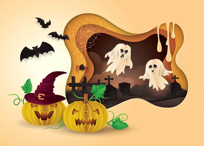 Marco feliz fiesta de halloween vector