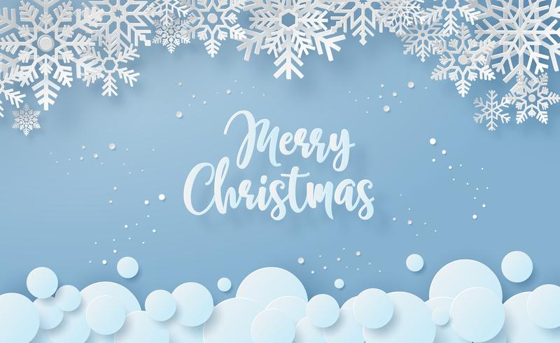 Snowflake Merry Christmas Card  vector