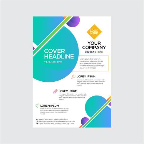 Conception de flyer abstraite simple entreprise vecteur